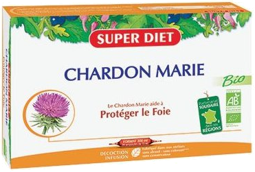 Chardon Marie Protection du foie Bio Super Diet - 20 Ampoules