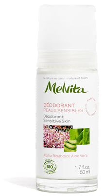 Déodorant Peaux Sensibles Bio Melvita - Roll-on de 50ml