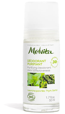 Déodorant Purifiant 24H Bio Melvita - Roll-on de 50ml