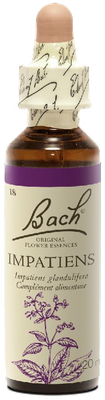 Impatiens N°18 Fleur de Bach Original - Flacon de 20ml