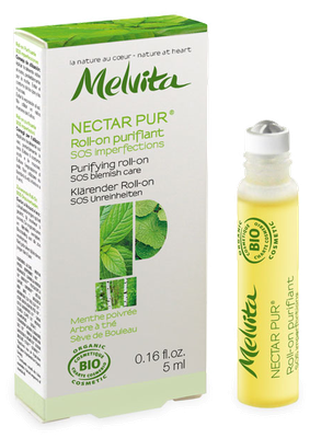 Nectar Pur Roll-on Purifiant SOS Imperfections Bio Melvita - Roll-on de 5ml