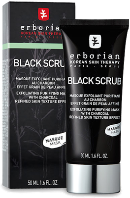 Masque Exfoliant Purifiant au Charbon Black Scrub Mask Erborian - Tube de 50ml