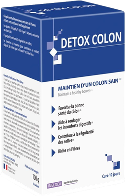 Detox Colon - Maintien d'un colon sain - Cure 10 jours - Ineldea